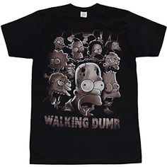 Simpsons Walking Dumb T-Shirt-X-Large