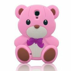 3D Cute Pink Teddy Bear Soft Silicone Case Cover for Samsung Galaxy S4 i9500 - Galaxy S4 Cases