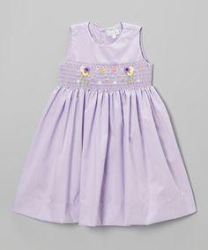 Another great find on #zulily! Lavender Garden Smocked Dress - Infant #zulilyfinds