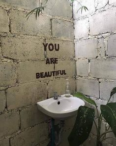 You are beautiful. You are special. Coach Parental, Graffiti Quotes, Foto Art, You Are Beautiful, Beautiful Smile, Banksy, Wall Collage, Coffee Shop, Cool Stuff