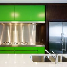 Kitchen: Bold Colours: Green Bold Colour Kitchen