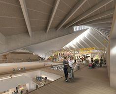 Nulty - Design Museum, London - Atrium Illumination Hyperbolic Paraboloid Roof Lighting Design