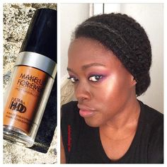 My latest review is up on the blog and on YouTube! I am officially part of the @ultrahdgeneration.  Love this formula! Love! It makes skin look amazing in person and in real life and it's super lightweight!! Yup, selfies on boss status! 40 shades so my #WOC don't miss out. Check the link in my bio  #beauty #BlackGirlMagic #teamnatural #naturalhair Oh! Tutorial on this look on the blog as well.  Have you tried it? What do you think? #makeup @makeupforeverofficial