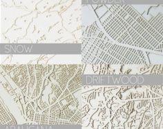 CUSTOM Paper Laser Cut Map- UNFRAMED