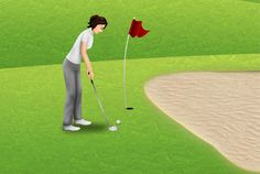 Articulate Storyline Golf Game Scenes by Pentext.com