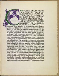 NETHERLANDS: La Prophétie de Ioel [Maastricht, C. Nypels], pp., 29 x cm. Printed by Charles Nypels on the Leiter-Nypels presses. Design, William Morris, Art Nouveau, Art, Victorian Design, Book Design, Arts And Crafts, Prints, Arts And Crafts Movement