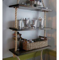 Rope Shelving   Bathroom Storage Ideas for Small Spaces   DIY Bathroom Organization Ideas    Click for 18 Ideas