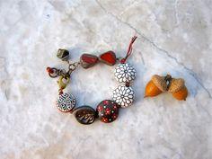 poppy bracelet . . . by marthasrubyacorn on Etsy, $51.00