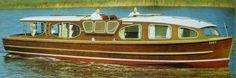 "Merrimore 41ft x 11' 6"". Described in the 1968 brochure as 'Broadland's most luxurious 7 berth cruiser. Hire cost £89.00 per week in peak season."