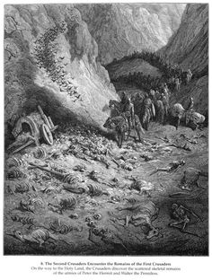 The army of the Second Crusade find the remains of the soldiers of the First Crusade - Gustave Dore - WikiPaintings.org