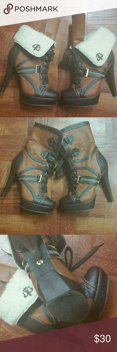 Dereon Boots Excellent condition heel is 6 inches Dereon Shoes Ankle Boots & Booties