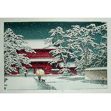 川瀬巴水: Zojoji Temple in Snow - Japanese Art Open Database