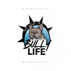 Blue French Bulldog logo bulldog logo frenchie logo Bully logo pet logo pet sitter logo dog walker logo photography breeder logo premade