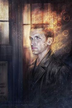 Doctor Who :: tv shows :: tv :: jasric :: more in comments :: art (beautiful pictures) Ninth Doctor, First Doctor, Doctor Who Fan Art, Christopher Eccleston, Don't Blink, Geronimo, Bad Wolf, Illustrations, Funny Illustration