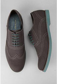 UrbanOutfitters.com > Hawkings McGill Canvas Brogue Shoe #ZenniFashionChallenge #Springlook2015