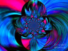 Royal Swirls - Abstract Art Digital Art