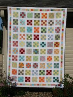9-patch quilt-along with crazy mom quilts: i like this one for Willow's