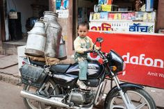 Child on a motorcycle in India #India #travelphotography #travelphotographer