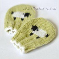 Baby Mittens 'Little Baa Baa' More