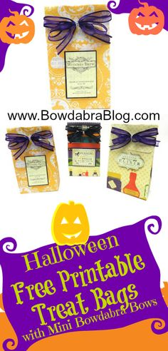 Halloween Free Printable Treat Bags