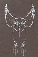 necklace and earrings by Helewen
