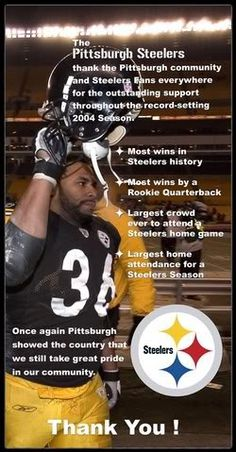 "Once a Steeler always a Steeler!! Luv ""The Bus"" #36 Jerome Bettis.."