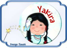 Button  Indianer mit Namen von Jasuki auf DaWanda.com