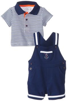 Anchor Shortall Set Baby Boys Little Me 2 Piece Set -  Navy - 9 Months NWT #LittleMe #Everyday