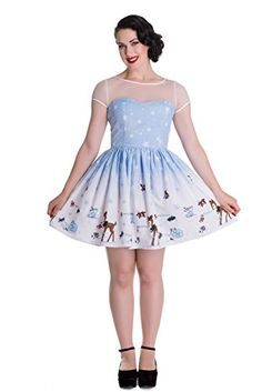 Hell Bunny Nevara Christmas Party Mini Dress  Blue S >>> Check out this great product. (This is an affiliate link) #FashionDresses