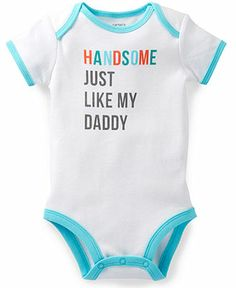 Carter's Baby Boys' Handsome Like Daddy Bodysuit - Kids - Macy's Source by boy outfits Baby Boy Fashion, Kids Fashion, Little Babies, Cute Babies, Carters Baby Boys, Toddler Boys, Cute Baby Clothes, Babies Clothes, Baby Time