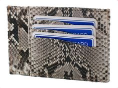 Credit card holder with document holder in python rock