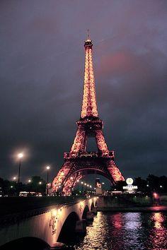 I Love Paris Eiffel Tower Tour Torre Tumblr Night Romantic Photography Travel Trip