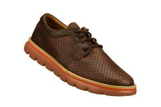 MEN'S SKECHERS ON THE GO - BOWRY  Perforated leather adds a casual feel to this smart oxford.