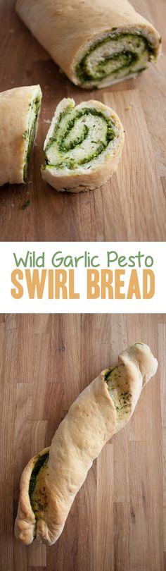 Wild Garlic Pesto Swirl Bread | ElephantasticVegan.com