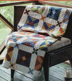 Checkboxes Quilt Pattern Pieced MF