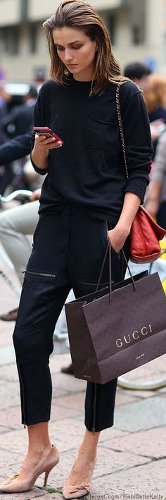 Those Isabel Marant shoes she's wearing are on sale at Barney's right now Street Style | Milan... effortless casual look