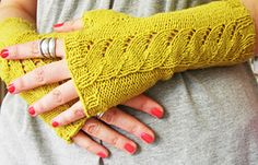 Ravelry: Gia fingerless gloves pattern by Maria Sheherazade free pattern