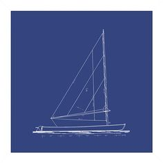 I pinned this Sailboat Blueprint Framed Wall Art II from the Big Fish Art event at Joss and Main!