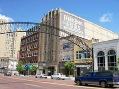 Saginaw Street, Flint Michigan. The red bricks I run the Crim on,