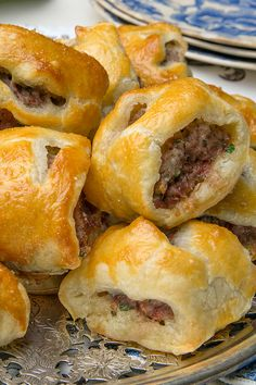 Though the concept of sausage wrapped in pastry exists in every cuisine in one way or another, the British have claimed sausage rolls as their own. They are always welcome, especially at holiday time. (Photo: Fred R. Conrad/The New York Times)