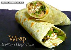 Tuna and fresh cheese wrap
