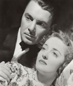 George Brent and Bette Davis in Dark Victory (Vincent Sherman, 1939)