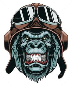 Gorilla Tattoo, Monkey Art, Car Drawings, Skull Art, Art Logo, Clipart, Vector Art, Vector Graphics, Cartoon Art