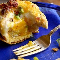 Biscuit egg breakfast