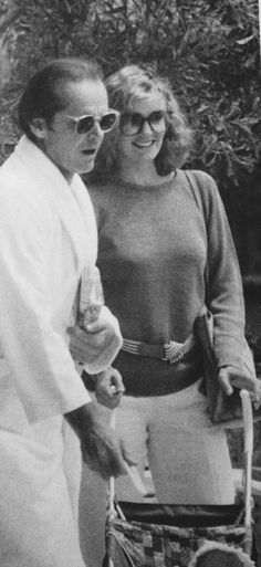 Jessica Lange and Jack Nicholson at the Cannes Film Festival ~ 1981