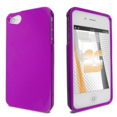 Shop for Apple iPhone 4 iPhone 4S Hard Cover Case - Solid Purple with special price before too late!