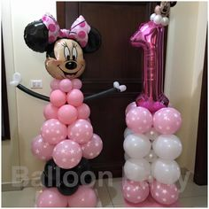 #Minnie #Mouse 1st #birthday #party