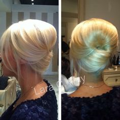 Modern French twist -- I love this! The old french twist of my day was too tight and matronly. This is elegant & the few wispy pieces in front make it casual as well. Love Hair, Great Hair, Gorgeous Hair, Modern French Twists, French Twist Hair, French Bun, Pretty Hairstyles, Wedding Hairstyles, Wedding Updo