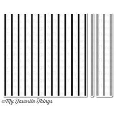 My Favorite Things CANDY STRIPES BACKGROUND BUILDER Cling Stamp MFT BG63