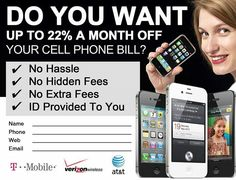 #cellphones #att #Verizon #discounts #savings http://easymoneybiz.wakeupnow.com